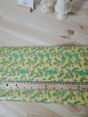 Laminated cotton_ yellow flowers