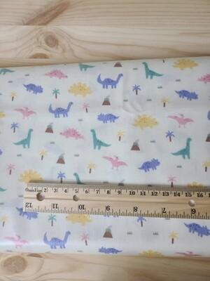 Laminated cotton_ivory dinosaur