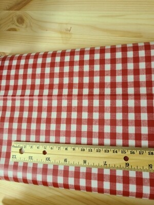 Laminated cotton oxford_red plaid