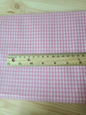 Laminated cotton_pink plaid