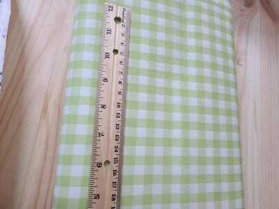 Laminated cotton oxford_green plaid