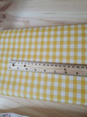 Laminated cotton oxford_yellow plaid