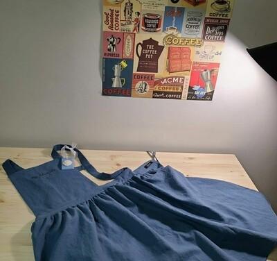Dress apron shoulder strap _ indie blue