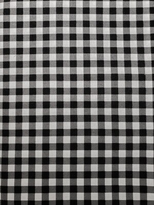 Black plaid_ cotton 30s