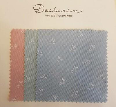 Doobarim cherry_ cotton 20s twill