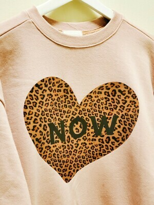 Kids Sweatshirt _ Leopard Heart