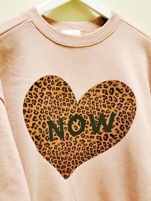 Leopard Heart Say _ Mom Sweatshirt