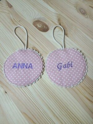 Name tag_ pink lace