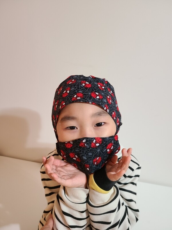 Bandanna with Mask Buttons_ Spiderman