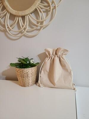 String pouch_ Checkered Medium Size