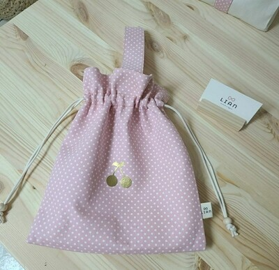 String bag with handle _ Pink