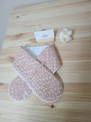 [Handmade] quilted scarf_ pink floral