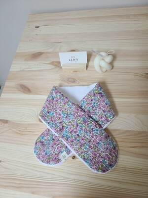 [Handmade] quilted scarf_ purple floral