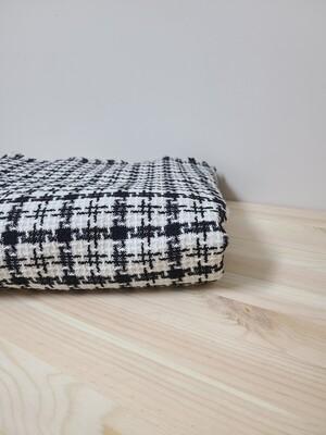Tweed fabric_ black/white