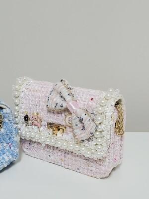 Mini Tweed Purse _ Pink