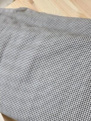 Doobarim Double Gauze  black Small Checkered