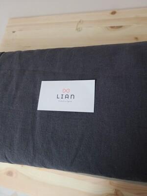 Doobarim cotton linen solid_charcoal