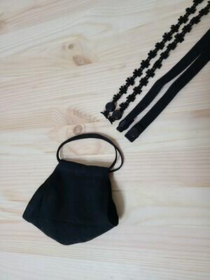Adult Handmade Mask _ black linen
