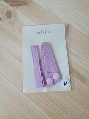 Adult handmade mask strap_purple polka dot