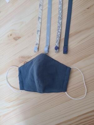 Handmade mask-indie blue linen