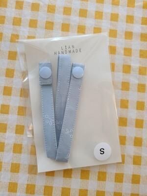 Adult handmade mask strap_ blue cherry