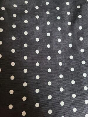 Corduroy_ black/white polkadot