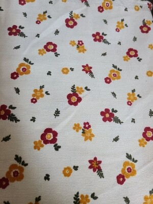 Corduroy_ ivory/floral