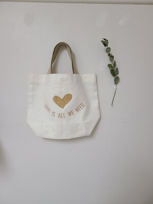 Canvas Tote Bag _ love vibes only