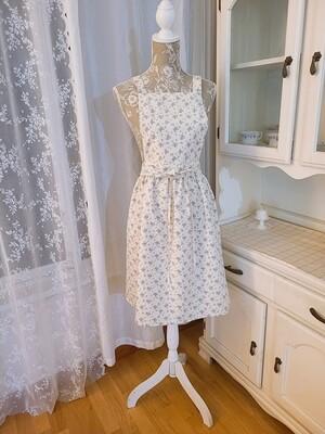 Dress apron shoulder strap _ blue floral