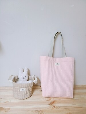 Echo Bag Large _ quilting light pink cherry