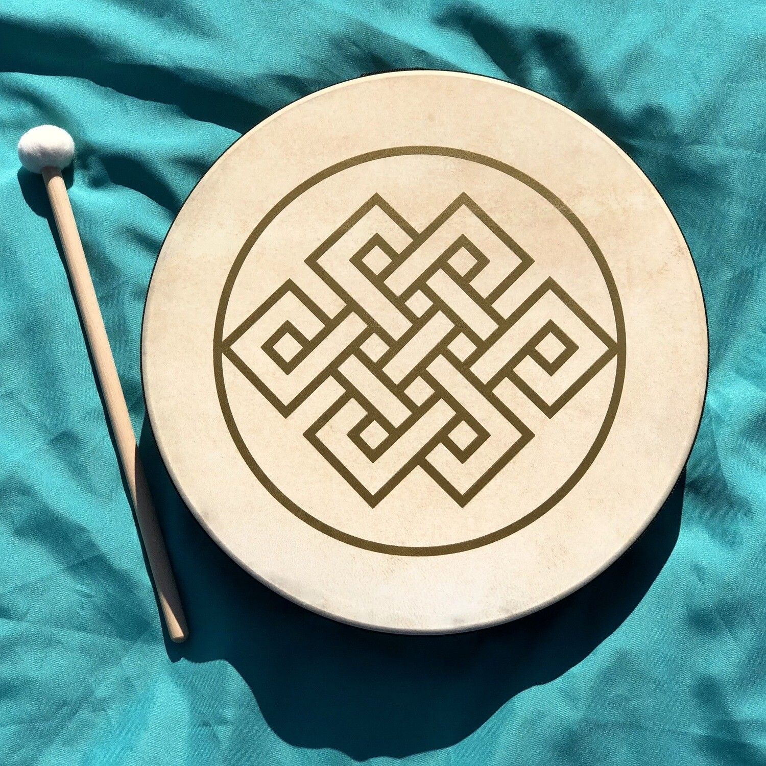 "Hand Drum, 16"", Endless Knot"