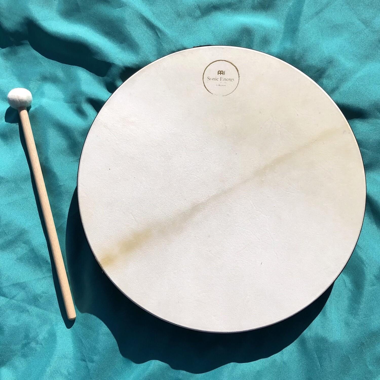 """Hand Drum, 18"""" Walnut Brown"""