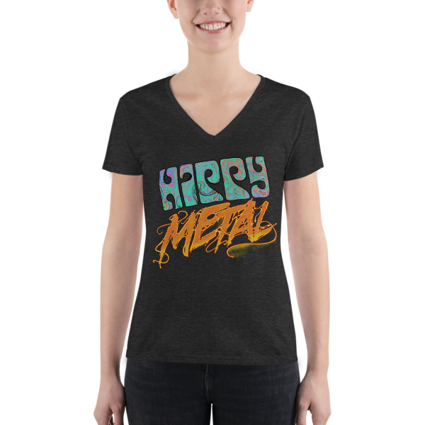 """Hippy Metal"" Women's Fashion Deep V-neck Tee"