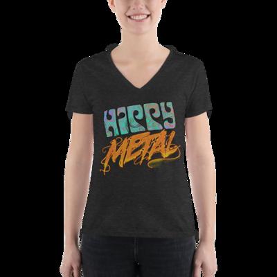 """Hippy Metal"" Women's Fashion Deep V-neck Tee"
