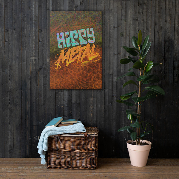"""Hippy Metal"" Canvas Print"
