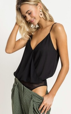 Black cami bodysuit