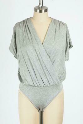Grey Cross Over Bodysuit