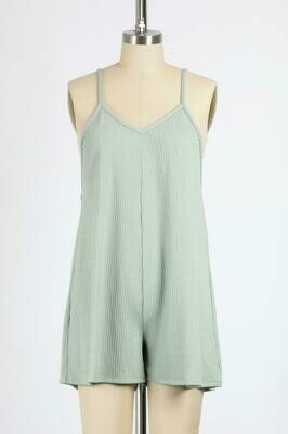 Relaxed Fit Romper in Sage