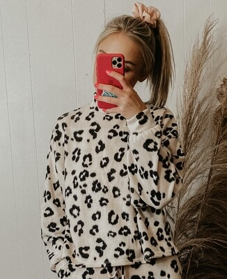 Animal Print Mock Neck