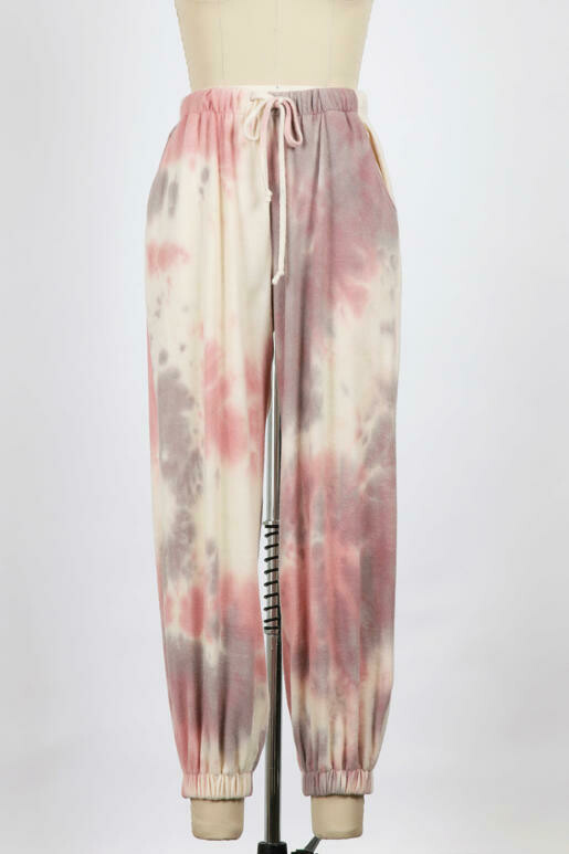 Softest Tie Dye Jogger Pants with Drawstring