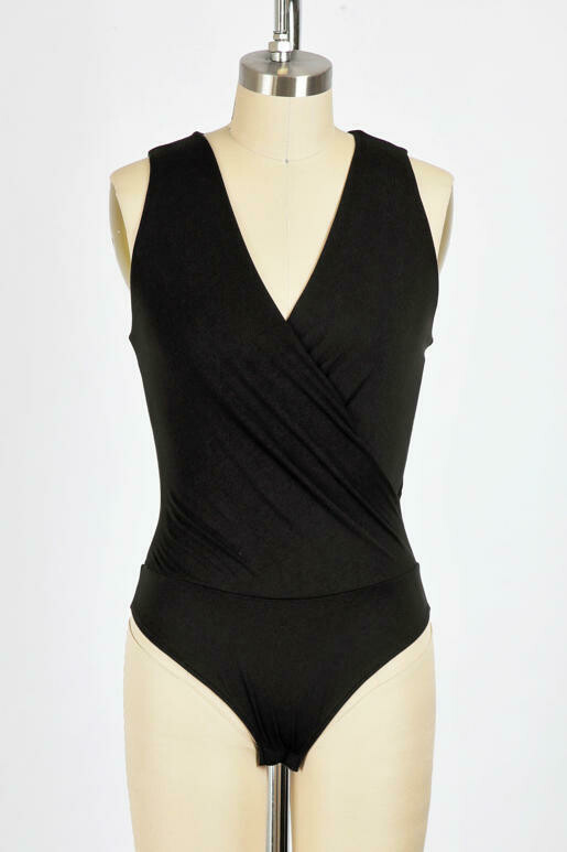 Double Lined Cross Over Body Suit