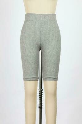 Heather Grey Biker Shorts