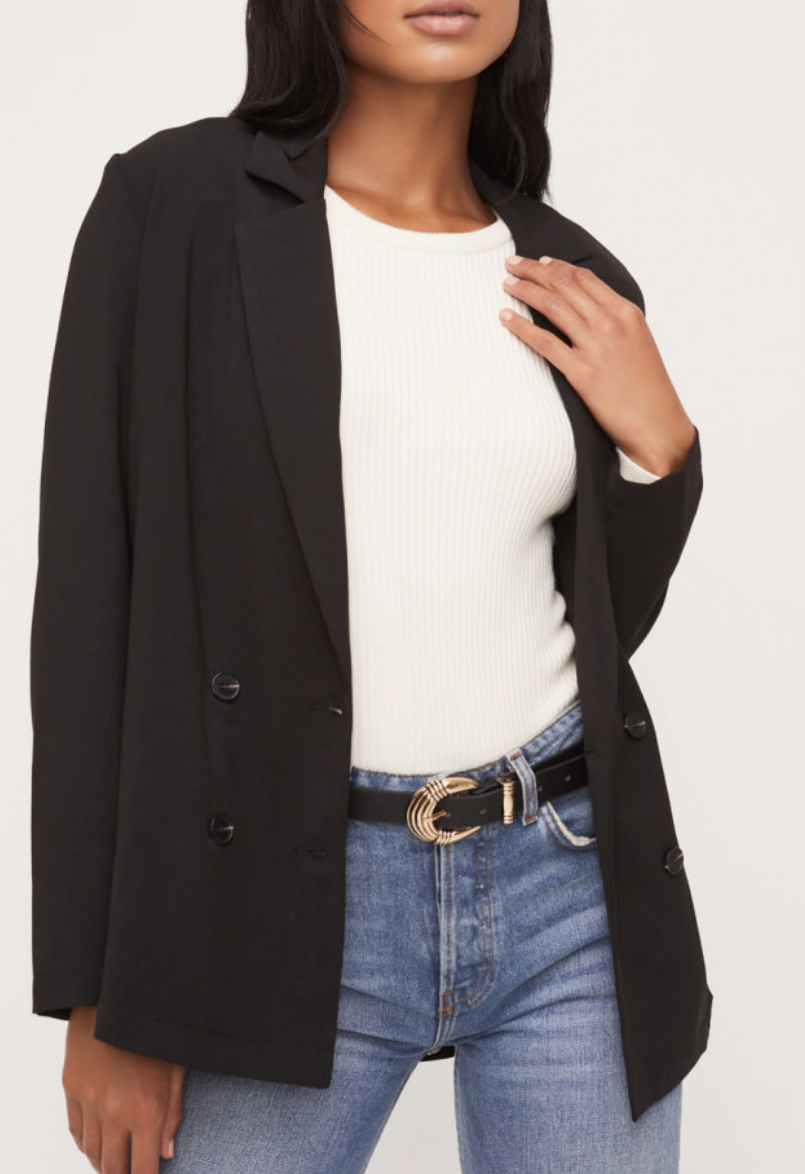 The Perfect Black Blazer