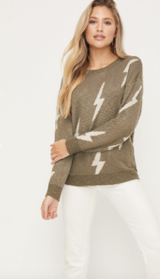 Lighting in a Bottle Crew Neck Pull Over