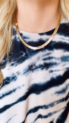 Flat Herringbone Chain Necklace