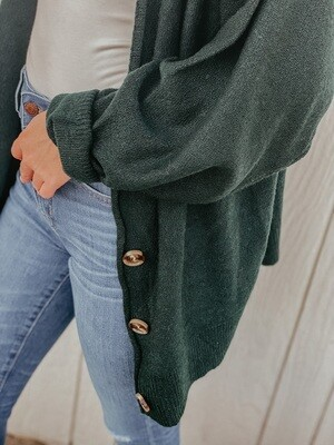 Hunter Green Oversized Cardigan