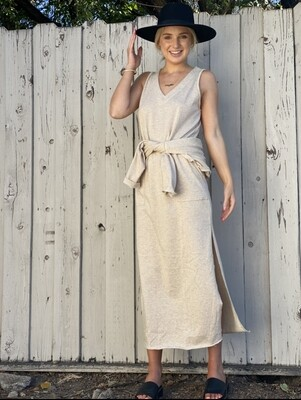 Oatmeal Terry Maxi Dress