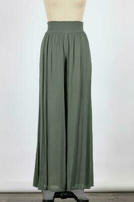 Military Green Wide Leg Pant