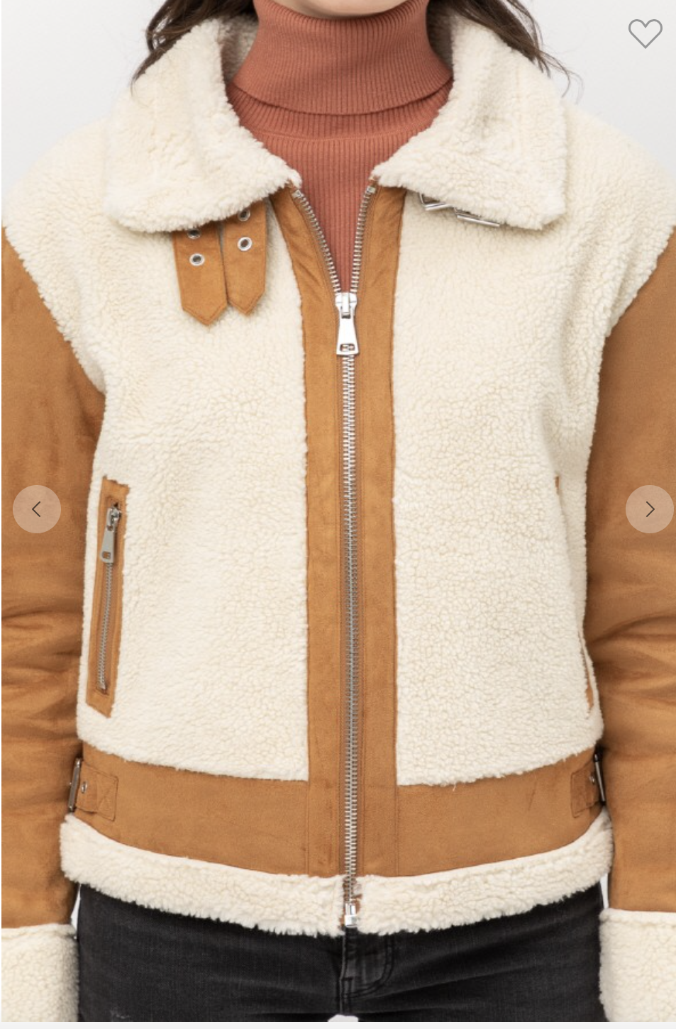 Suede Moto Sherpa Jacket