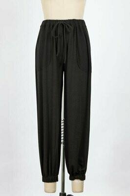 Black Terry Sweat Pants